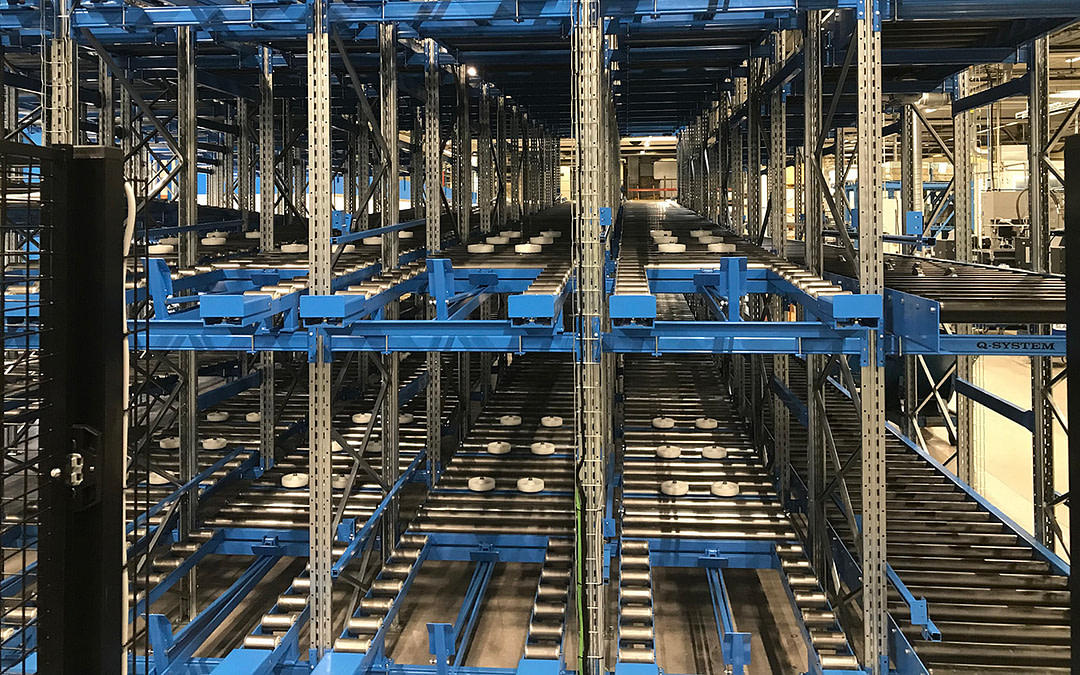 Effective solution with AGV and non-driven conveyor