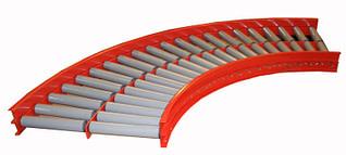 Non-driven roller conveyor curve