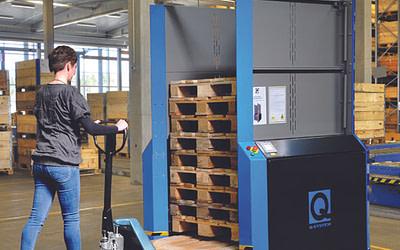 Top 8 fordele ved et PallEvator pallemagasin fra Q-System