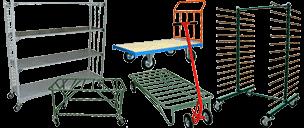 Transportvogne til intern transport og andet hjælpeudstyr