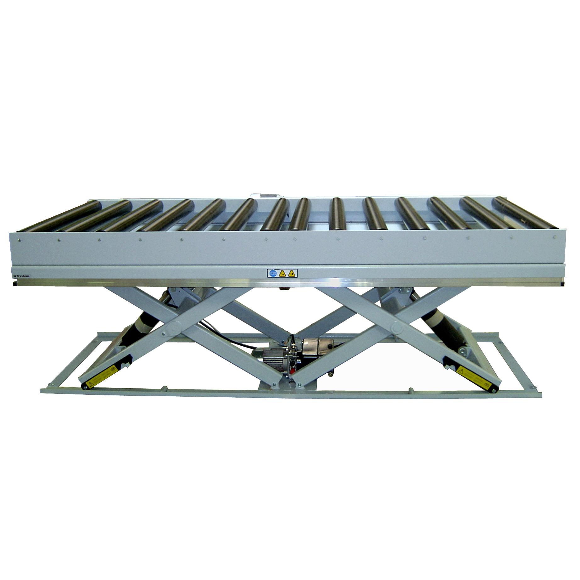 Dobbeltsaks løftebord med rullebane