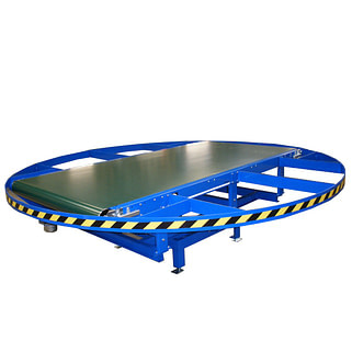Drejebord med båndtransportør i blå